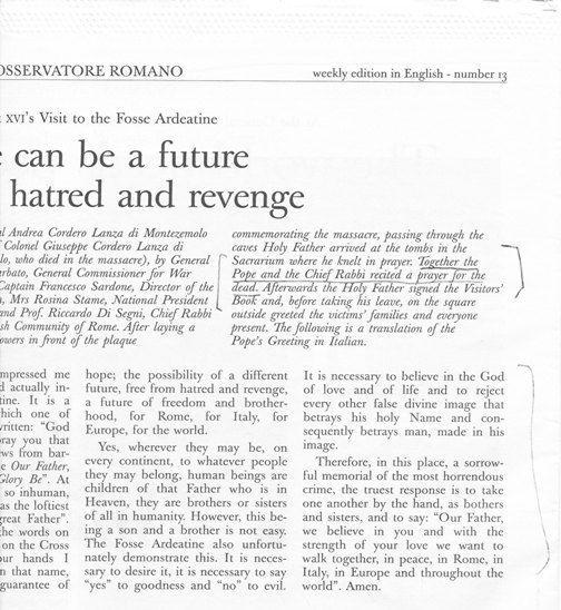 L'Osservatore Romano: Benedict XVI March 27, 2011