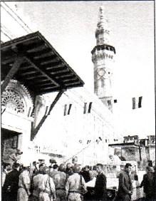 Anti Pope John Paul II entering 'Great Omayyad Mosque' of Damascus on May 6, 2001