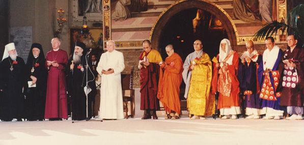 Image result for pope john paul II assisi ecumenical
