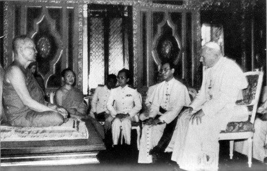 How is Catholicism different from Buddhism?