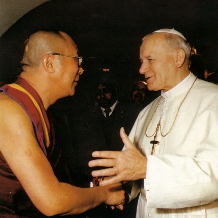 Some more photos of John Paul II with his good friend, the pagan Dalai Lama