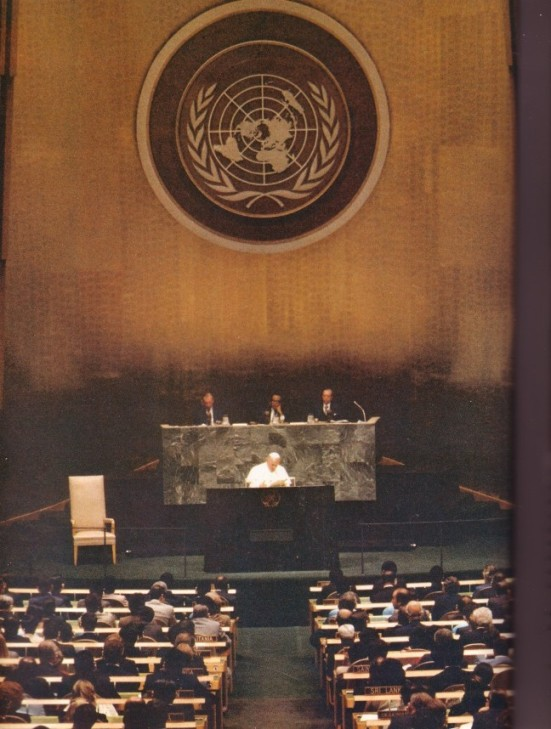 Photos of John Paul II at the United Nations