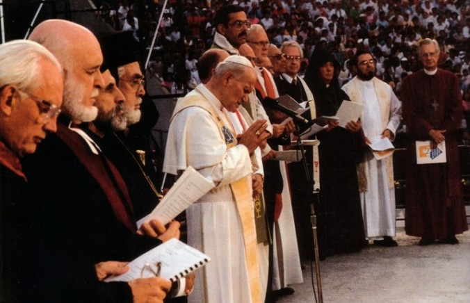 Anti-Pope John Paul II interreligious dialogue apostasy Assisi
