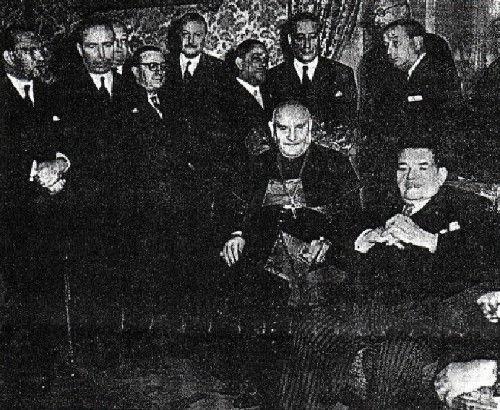 Anti-Pope John XXIII with Herriot and Radicals