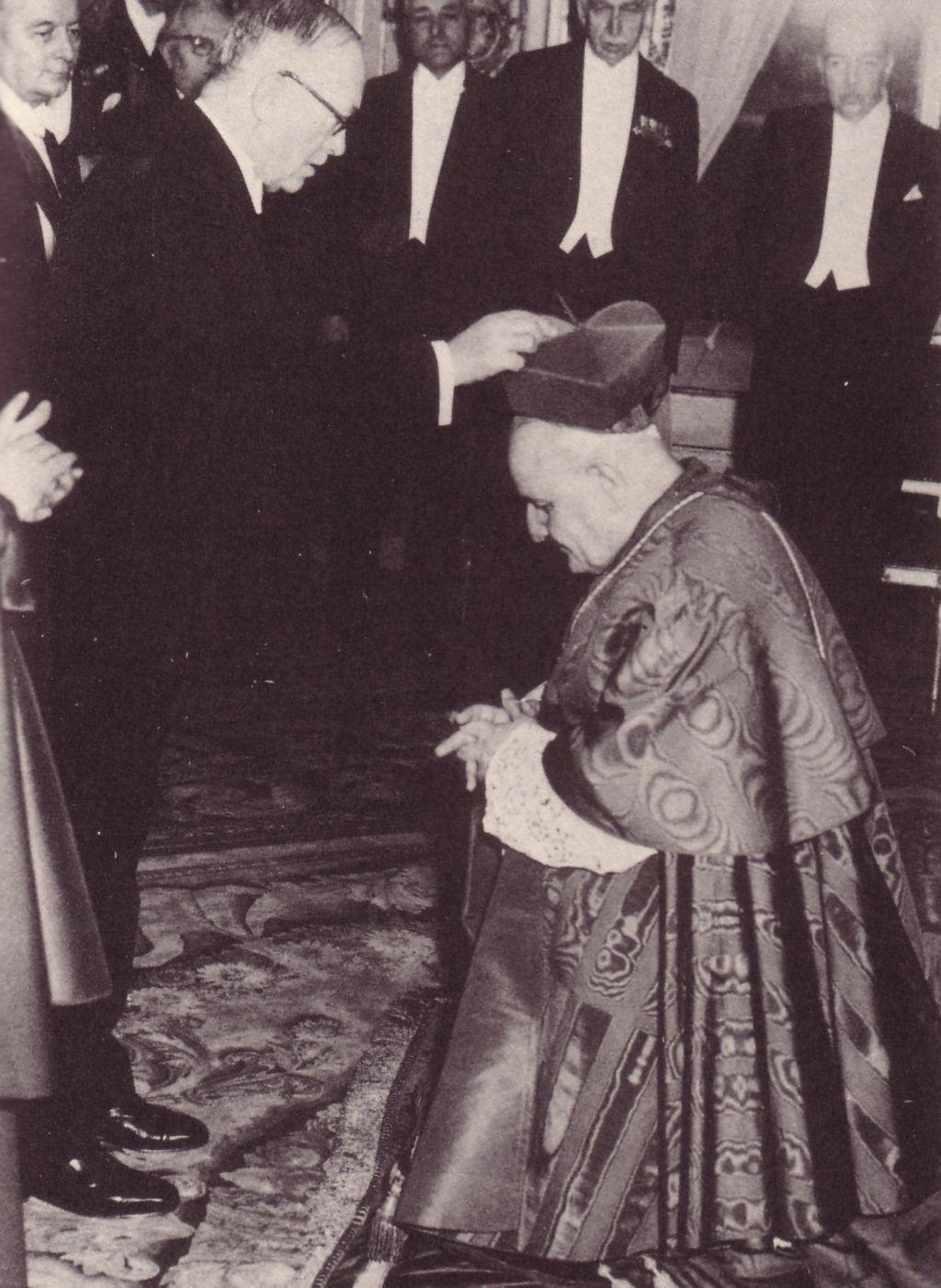 Anti-Pope John XXIII with Vincent Auriol