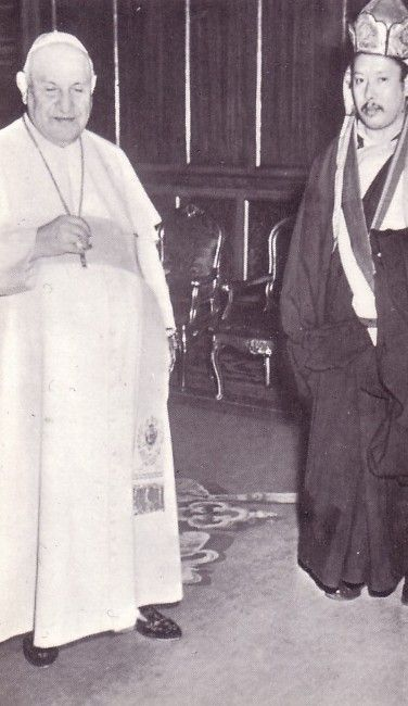 Anti Pope John XXIII with a High-Lama Buddhist