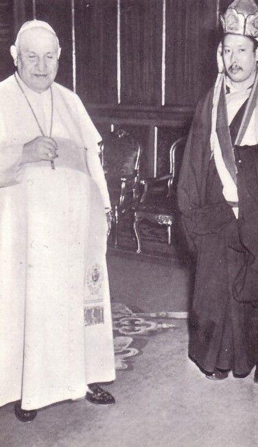 Anti Pope John XXIII with a High-Lama Buddhist