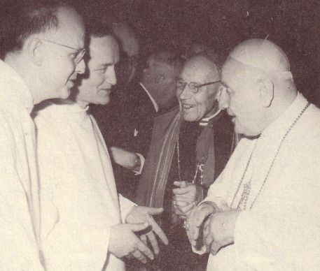 Anti Pope John XXIII with a young Bro. Roger of Taize