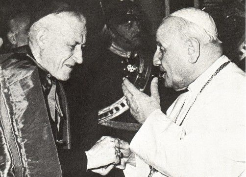 "Anti Pope John XXIII with ""Cardinal"" Richard Cushing of Boston"