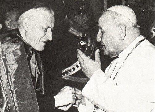 """Anti Pope John XXIII with """"Cardinal"""" Richard Cushing of Boston"""