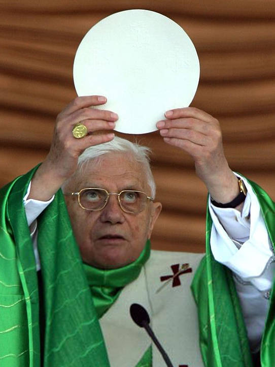 Anti Pope Benedict XVI large cookie new mass Loreto