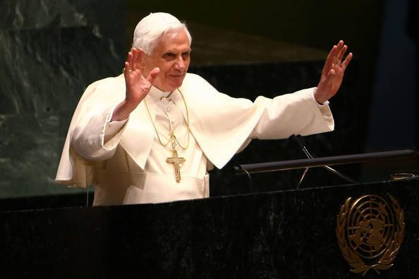 Anti Pope Benedict XVI visit to the United Nations