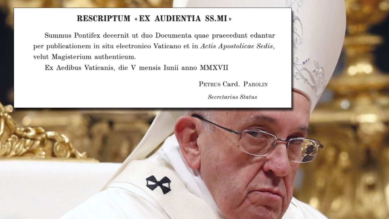 Francis Publishes Heretical Documents On Amoris Laetitia In The AAS