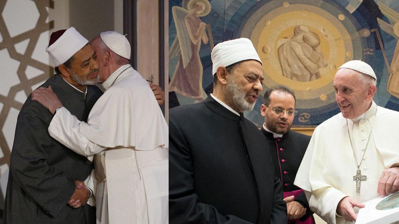 Anti-Pope Francis with Imam of Al-Azhar
