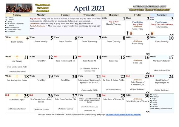 Month of April 2021
