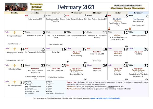 Month of February 2021