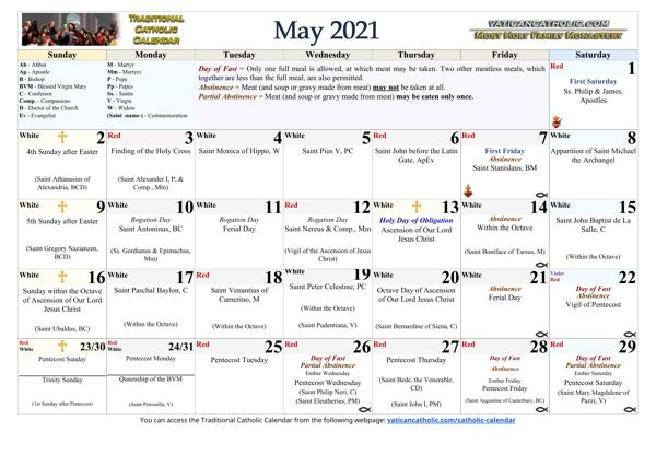 Month of May 2021