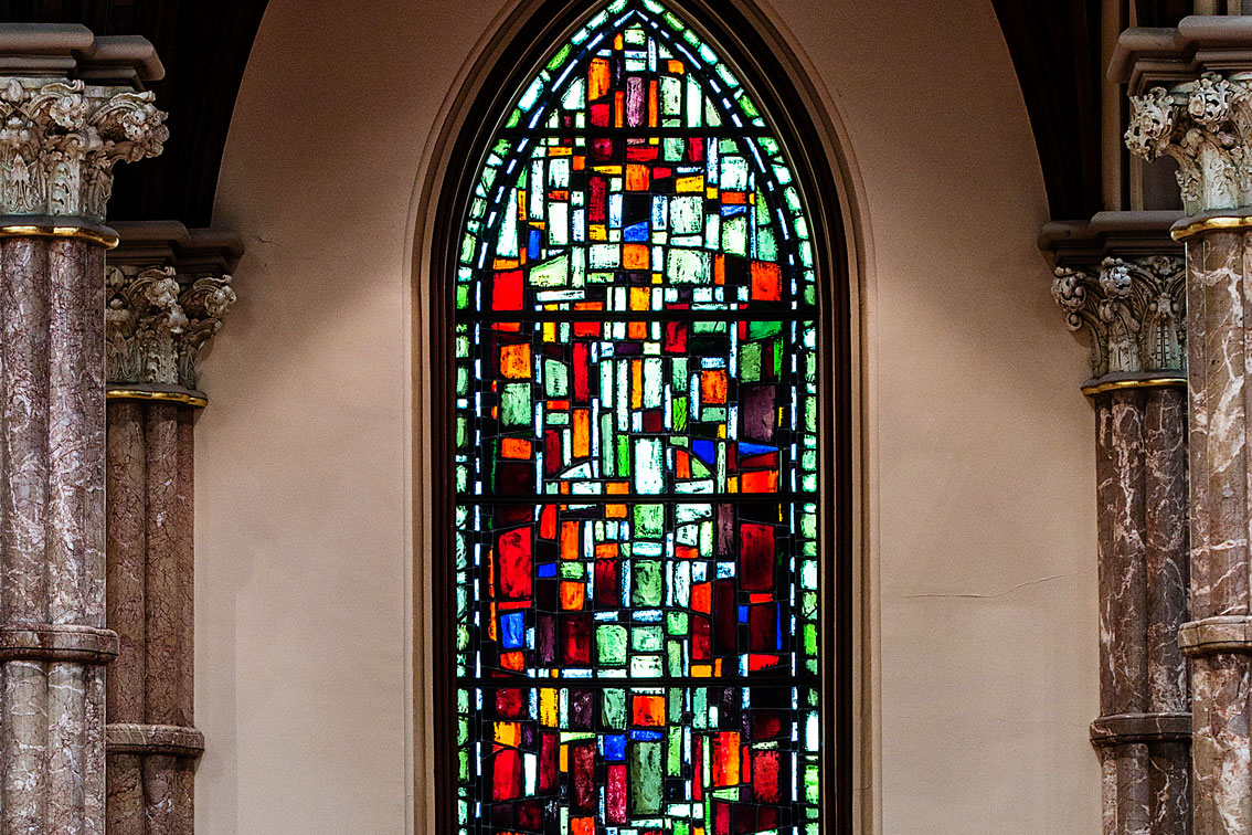 """""""Holy Name Cathedral"""" Stained Glass Window - Color Stones"""