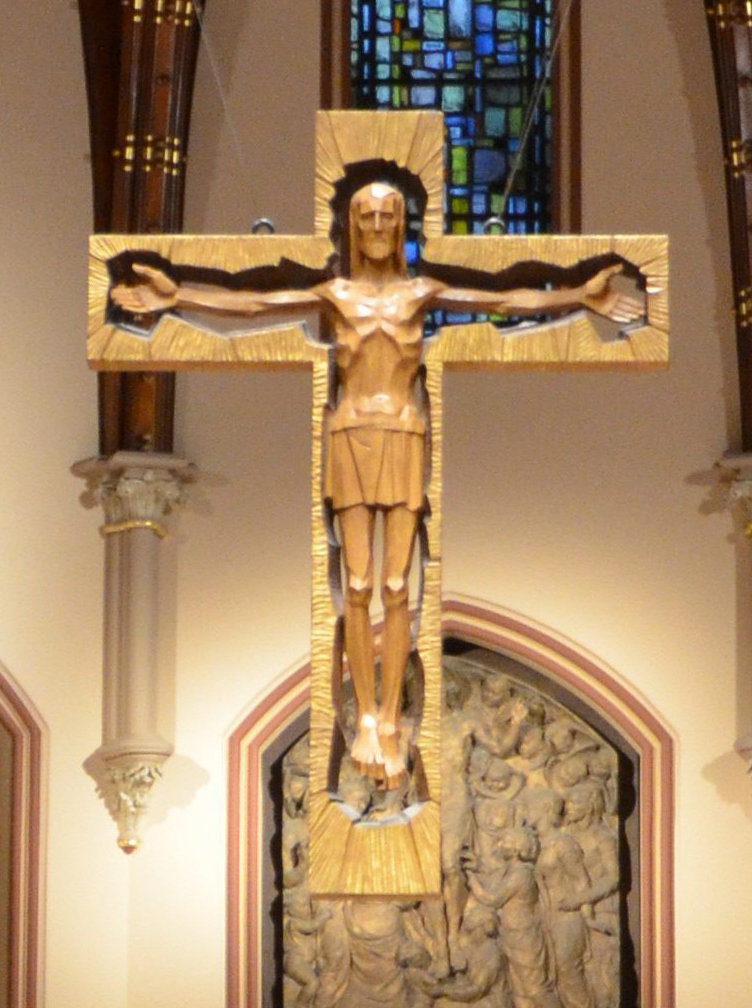 """The impression created by this """"crucifix"""" is that Jesus is stuck in a box, and therefore did not rise again from the dead."""